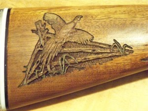 Shotgun Pheasant carving inmage