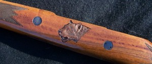 Leopard Carving on Sako gunstock image