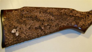 Leaf rifle - walnut stain applied