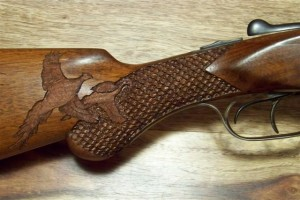 pheasant and fishscale carving