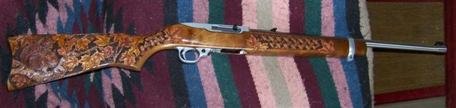 "Ruger ""squirrel gun project custom stock"
