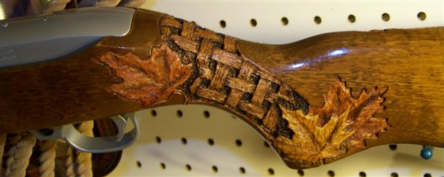Carving A Basket Weave Pattern On A Gunstock : Ruger squirrel gun project custom stock