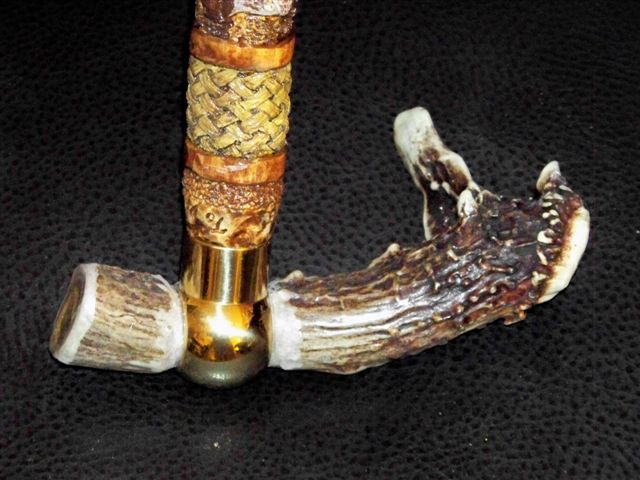 Stag cane handle 2