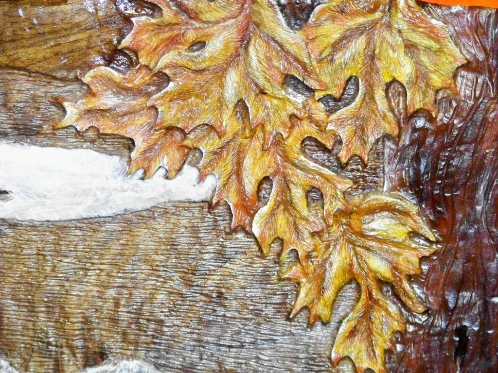 Carved leaves image