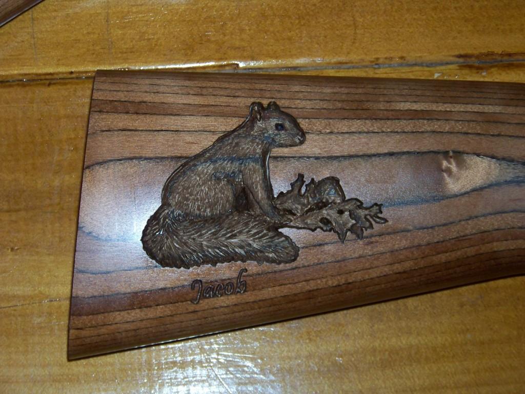 A Custom Carved Shotgun Trio Custom Gun Stock Carving