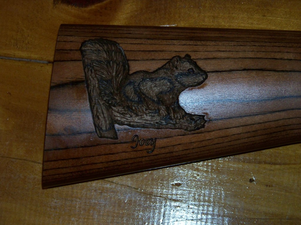A Custom Carved Shotgun Trio Custom Gun Stock Carving