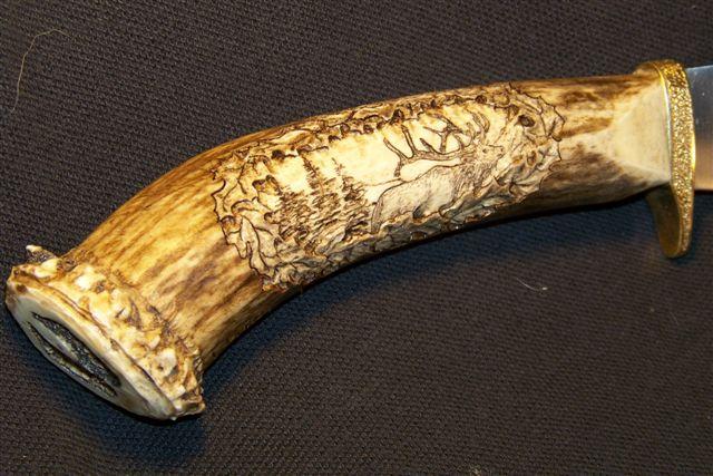 Metal Glass Antler Amp Bone Custom Gun Stock Carving